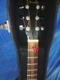 Violão fender CD 60  BLK com case