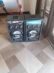 Caixa de som amplificada trc 400w vnda ou troca