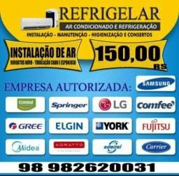 Instalação Ar Condicionado 9000btus Novo Completo R$250,00 Promoção