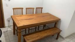Mesa Jantar com Banco e 3 cadeiras