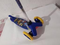 Patinet Infantil 3rodas Patrulha Canina ou emoji watsap reforçado okm novo azul