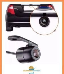 Câmera de Ré Automotiva com Visão Noturna Colorida Universal + Serra copo