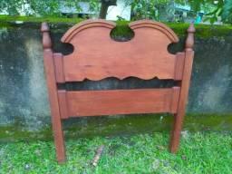 Cabeceira de madeira para cama box de solteiro