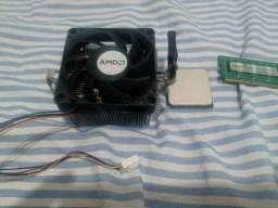Kit processador + memória RAM + Placa mãe Leia a descrição!