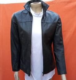 Jaqueta de couro preta legitima FEM.