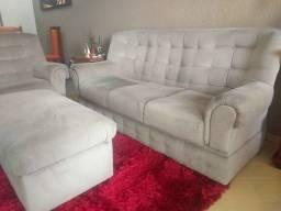 Sofa modelo tradicional com 3 e 2 lugares