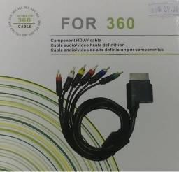 Cabo Componente TV Áudio Vídeo Xbox 360 Av HD