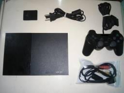 Ps2 Playstation 2 Completo + HD Com 60 jogos e 3 meses de garantia