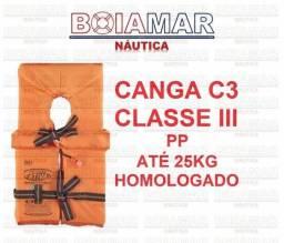 Colete salva vidas ativa canga classe 3 c  apito homologado pp até 25 kg ( 57986bce3c3f2