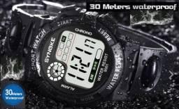 fbc8800bac4 Relógio de pulso esportivo masc. de led a prova dágua moderno e super  resistente
