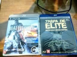 Jogo battlefield 4 ps3 + filme tropa de elite 2 (combo)