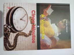 Livro: A viuvinha & cinco minutos - José de Alencar
