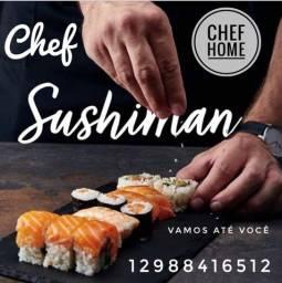 Chef home sushiman festas e eventos