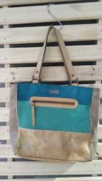 Bolsa de couro colorido