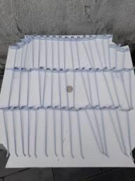 Kit 50 ganchos brancos 20cm  para painel canaletado
