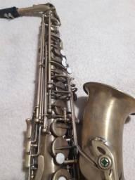 Saxofone Alto Mib Eagle Vintage Envelhecimento Natural