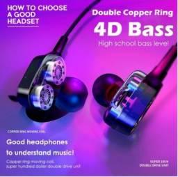 Fone de ouvido com fio, compatível com todos os dispositivos com entrada de 3,5mm