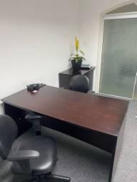 Mesa e armario para recepcao - alto padrao
