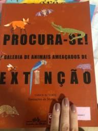 Livro galeria de animais ameaçados de extinção