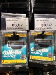 8 Cargas Mach 3 Gillette