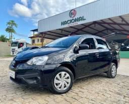 Etios Automático 2018 + Multimídia + GNV, 58 mil km,1.5 x Sedan Toyota
