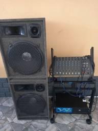 Som Completo - Caixas - Mesa e Amplificador