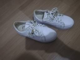 Tenis branco.com strass 37