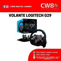 Volante Gamer Logitech G29 Driving Force. Novo com NF e garantia. Loja física