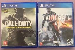 Jogo PS4 Call of Duty e Batterfield