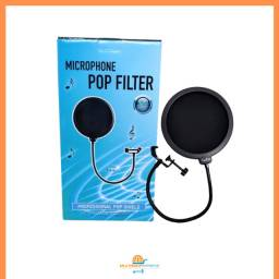 Tela Anti Sopro Puff Studio Pop Filter para Microfone