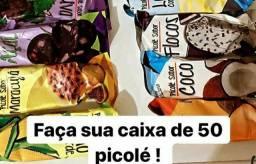 FAÇA SUA CAIXA COM 5O PICOLÉS APENAS 1 REAL CADA UM