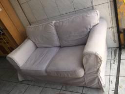 Sofá 2 lugares com almofadas soltas