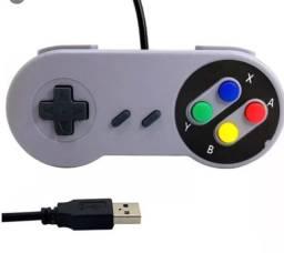 Controle Super Nintendo Snes Joystick Usb Emulador Pc