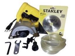 Serra mármore Stanley 4.1/2 Polegadas-1200W MOD: SPT115W com disco e kit refrigeração