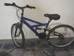Bicicleta aro 24, marcha amortecedor quadro garfo