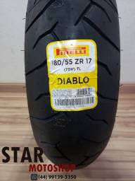 Pneu Pirelli Diablo 180/55-17 Hornet/Cb1000/CBR600rr/Z750 - Novo