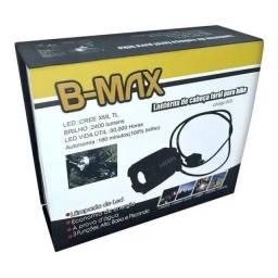 Lanterna de Cabeça Farol Para Bike bicicleta + Alerta Traseiro B-max 809- Rf Informatica