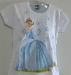 Camiseta infantil pintado amão livre, diversos personagem