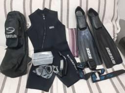 Kit de mergulho ( pesca sub )