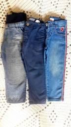 Lote de calças Jeans para menino de 2/3 anos