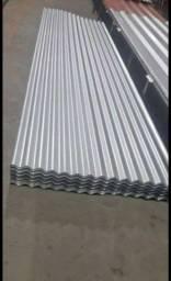 Trabalhamos com telhas galvalumes onduladas 0,40 e 0,43 0,50