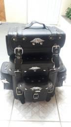 Alforge traseiro de 62 litros moto custom