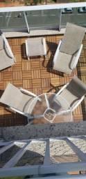 Conjunto cadeira para area externa