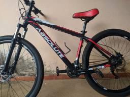 Vendo bicicleta abesolute aro 29 freio idraculo peça tudo Shimano valor 2.300