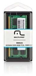 Memória Notebook Multilaser Ddr3 Sodimm 8gb 1600 Mhz Mm820