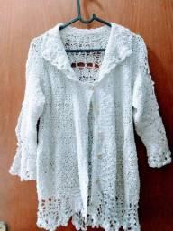 Vendo blusa de crochê branca