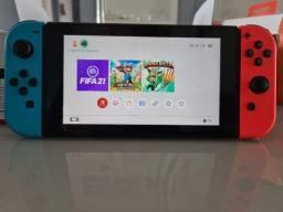 Título do anúncio: Console Nintendo Switch Joy-Con 32GB Azul e Vermelho Neon
