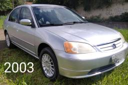 Honda Civic lxl 2003 Automático Financio ou Troco Utilitário Maior Valor
