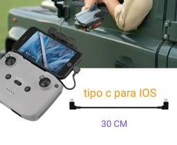 Cabo 30cm Otg Dados Drone Mavic Air2 Mini2 Tipoc Para Ios