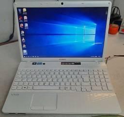 Notebook Sony Vaio Core i3 2 geração Top Tela de 15.6 teclado alfanumérico